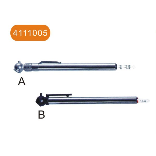 Tire chuck and tire gauge