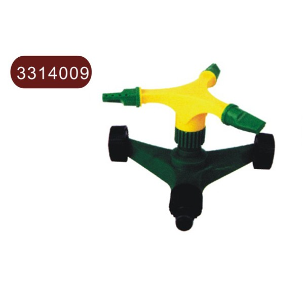 Adjustable three-arm sprinkler & movement seating