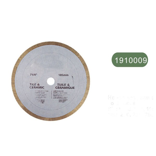 """Hot-pressed saw blade, continuous   """