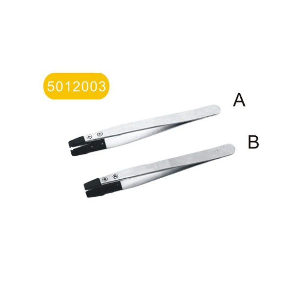 """Can change-head anti-static stainless steel tweezers """